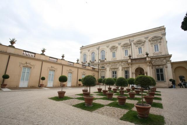L'esterno di Villa Aurelia