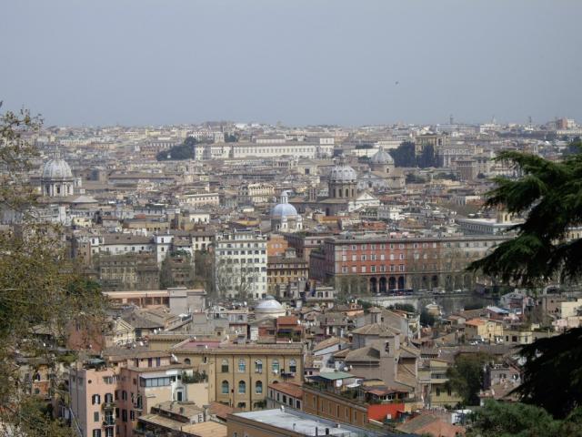 La vista su Roma da Villa Aurelia